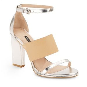 FC Ina Metallic Faux Leather Sandals